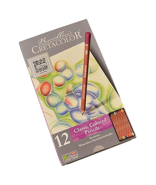 Set 12 creioane colorate Karmina Cretacolor