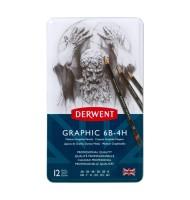 Set 12 creioane grafit Medium Graphic Derwent