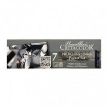 Set creioane Nero Deep Black Pocket Cretacolor