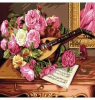 Pictura pe Numere Buchet flori