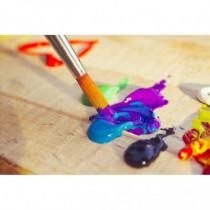 Set 4 pensule pictura acrilice Atelier