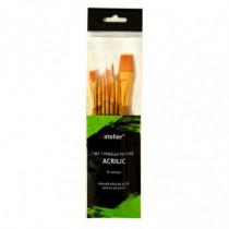 Set 7 pensule pictura acrilice Atelier