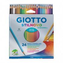 Set 24 creioane acuarelabile Stilnovo Giotto