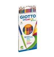 Set 12 creioane bicolore...