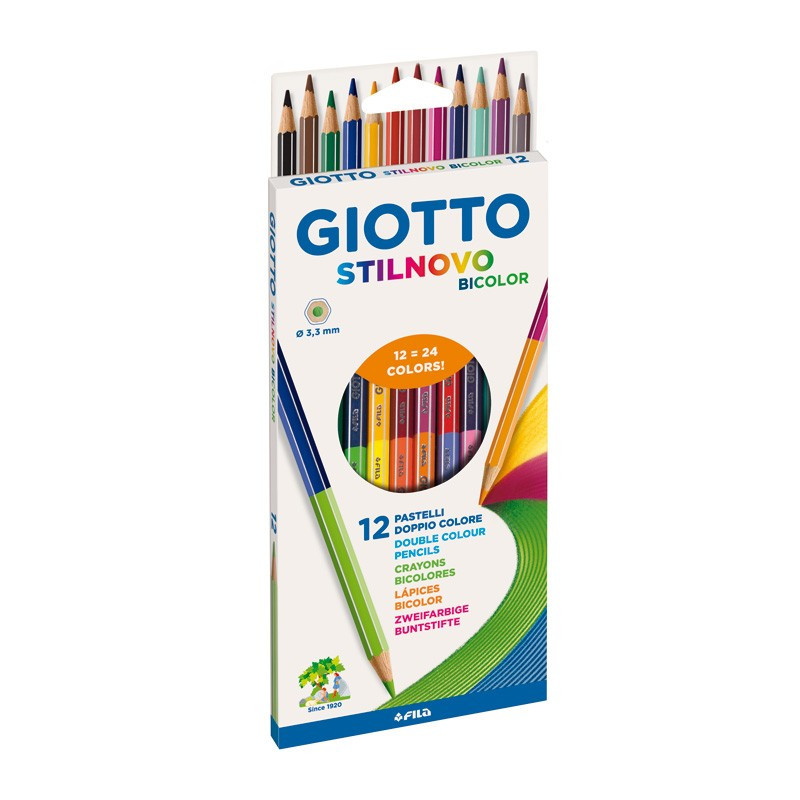 Set 12 creioane bicolore Stilnovo Giotto