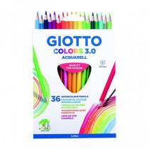 Set 36 creioane acuarelabile Colors 3.0 Giotto