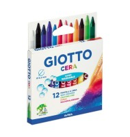 Set 12 creioane cerate Giotto