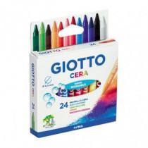 Set 24 creioane cerate Giotto