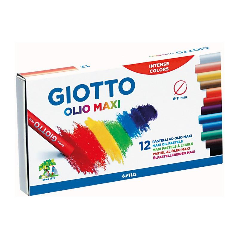 Set 12 pastel uleios Maxi Giotto