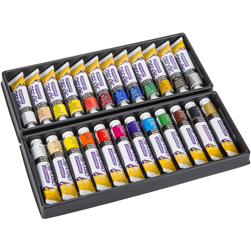 Set 24x22ml culori acrilice Graduate Daler Rowney