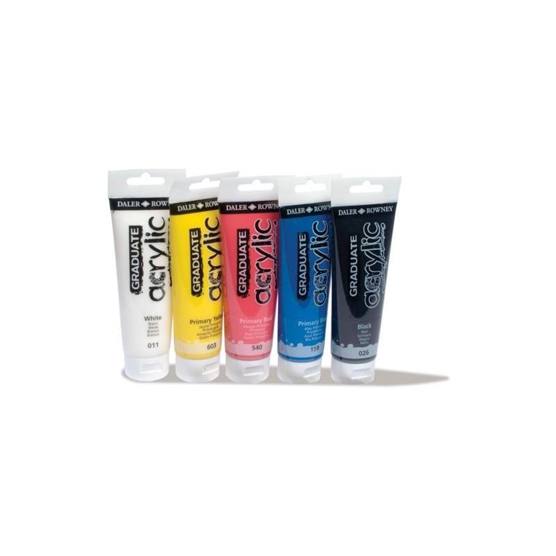 Set 5x120ml culori acrilice Graduate Daler Rowney