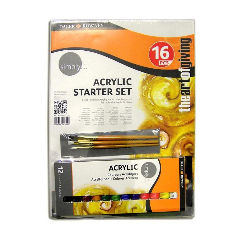Set acrilic Starter Simply Daler Rowney
