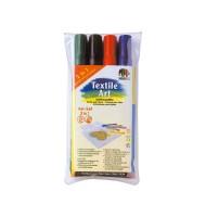 Set 4 markere textil...