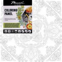 Carton panzat pre-desenat Mandala Art Therapy Phoenix