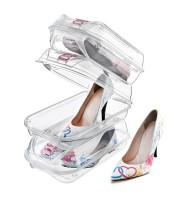 Cutie Depozitare Pantofi 31.5 x 18.5 x 11 cm, Transparenta, Tuffex Tp383