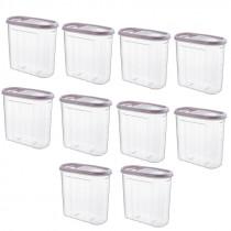 Set 10 Cutii pentru Alimente, din Plastic, cu Capac, 1.80 l, Tuffex Tp380