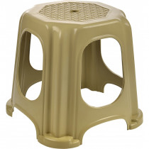 Scaun Taburet pentru Gradina, Bej, din Plastic, Tuffex TP2132