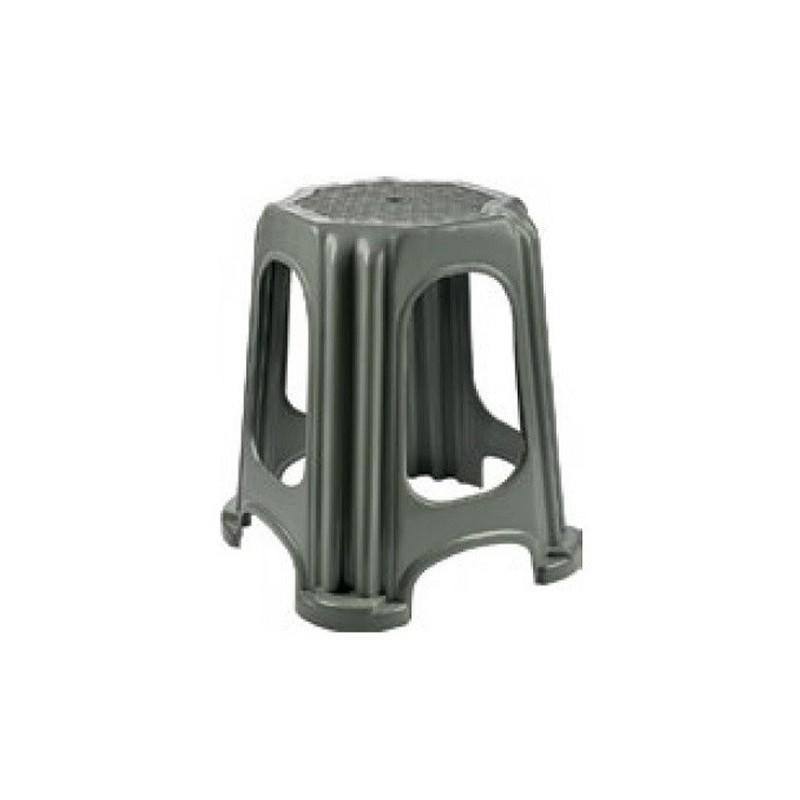 Scaun Taburet pentru Gradina, Gri, din Plastic, Tuffex TP2132