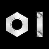 Piulita Hexagonala Joasa Forma B DIN 439, Otel Gr.4, Zincat