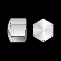 Piulita Hexagonala Infundata DIN 917, Otel Gr.6, Zincat