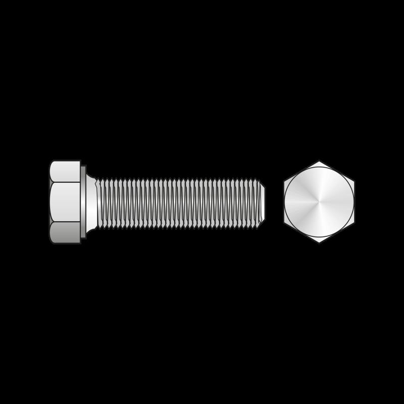 Surub Total Filetat cu Cap Hexagonal DIN 933, Otel Gr.8.8, Zincat