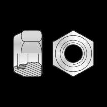 Piulita Hexagonala cu Autoblocare DIN 985, Inox A2