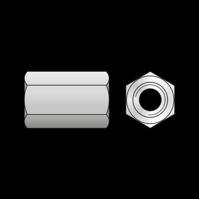 Piulita de Cuplare DIN 6334, Inox A2