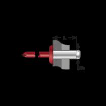 Pop-nituri Standard Cap Bombat Colorat, Aluminiu/ Otel