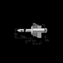 Pop-nituri Tubulare Cap Bombat, Aluminiu/otel