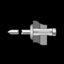 Pop-nituri Multigrip Cap Bombat, Aluminiu/ Otel