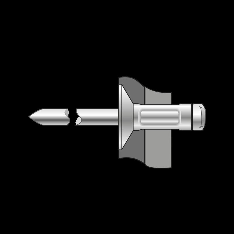 Pop-nituri Multigrip Cap Tesit 120, Aluminiu/otel