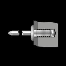 Pop-nituri Ingropate Cap Bombat, Aluminiu/otel