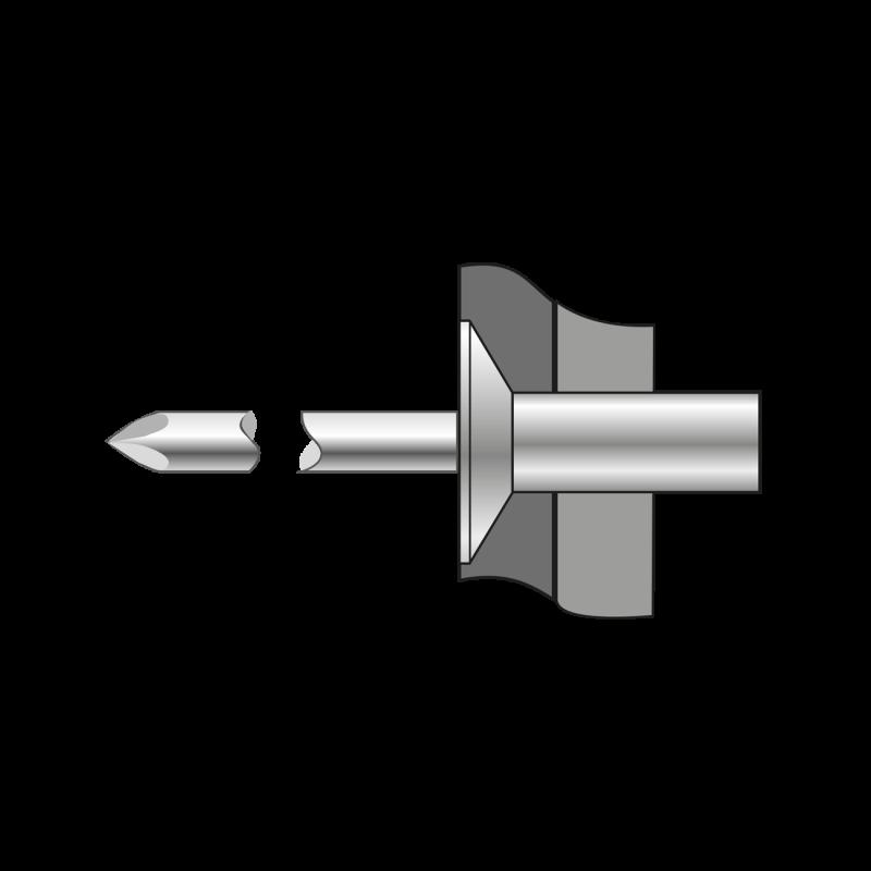 Pop-nituri Etanse Cap Tesit 120, Aluminiu/ Otel