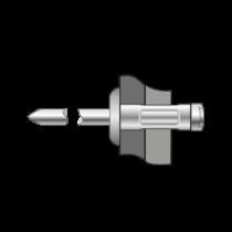 Pop-nituri Multigrip Cap Bombat, Aluminiu/inox