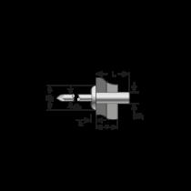 Pop-nituri Etanse Cap Bombat, Aluminiu/inox