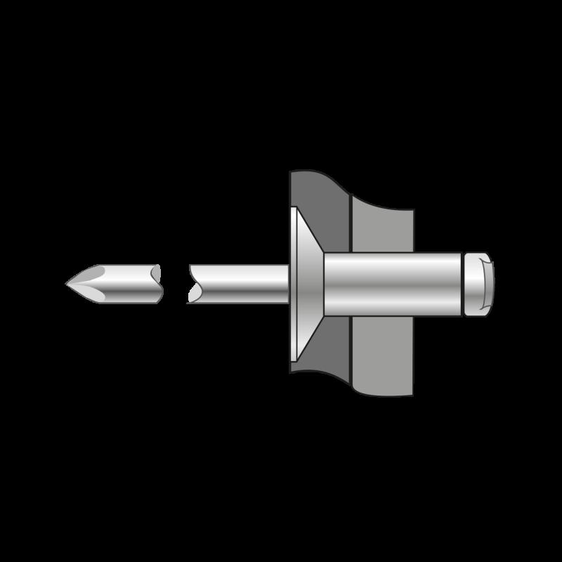 Pop-nituri Cap Tesit 120, Inox A2/inox A2