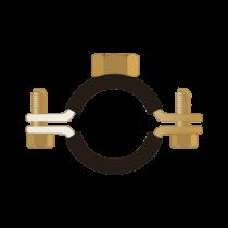 Colier Standard cu Piulita Dubla si Protectie de Cauciuc