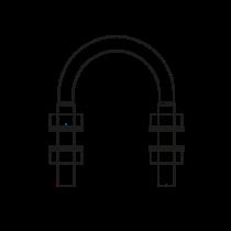 """Colier """"u"""", Zincat - Tip A, pentru Tevi - Similar DIN 3570"""