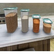 Set 5 Cutii pentru Alimente, din Plastic, cu Capac, 1.80 l, Tuffex Tp380