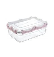 Cutie pentru Alimente, din Plastic, cu Capac etans, 0.40 l, 10 x 14.30 x 6.40 cm, Tuffex TP391