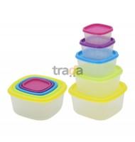 Set 5 Caserole cu Capac, din Plastic, Grunberg GR3752