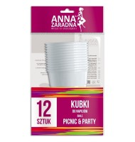 Pahare Albe de Plastic Anna...
