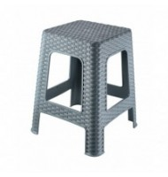 Scaun taburet, din Plastic, 28 x 28 x 45 cm, Tuffex TP7010 (gri)