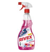 Solutie pentru Geam cu Pulverizator, Rivex Roz-Bouquet 750 ml