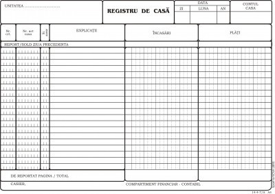 Model registru de casa tipizat