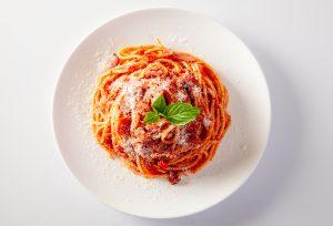 Spaghete sos rosu