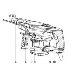 Ciocan Rotopercutor Componente